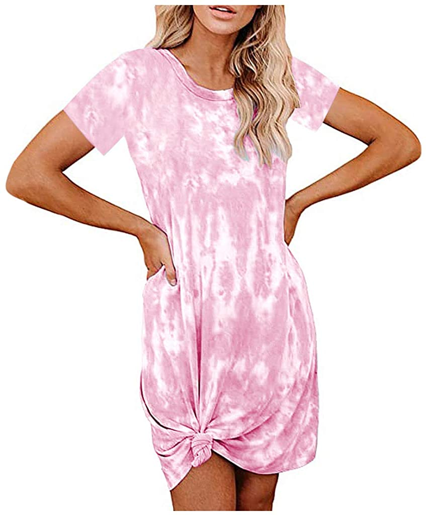 SSDXY Womens Tank Maxi Dress Summer Loungewear Bohemian Spaghetti Strap Sleeveless Tie-Dye Gradient Printed Long Dress