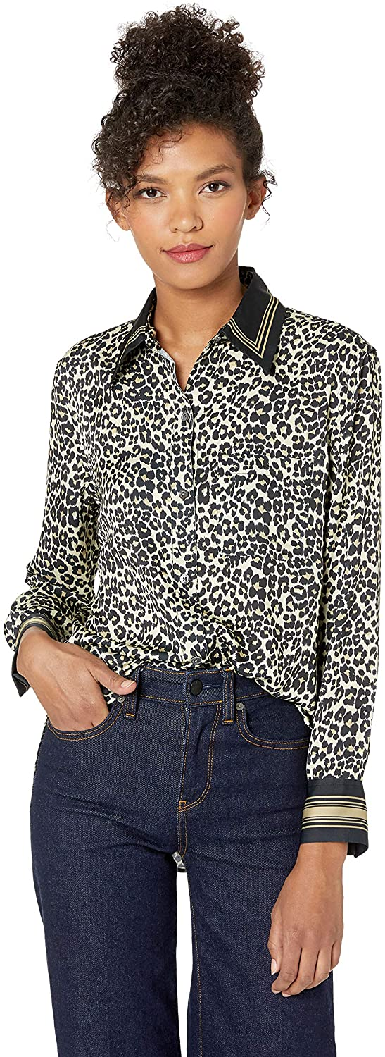 Equipment Women's Leopard Print Bradner Shirt