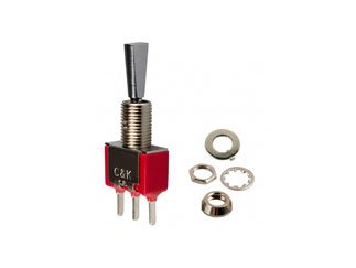 C & K COMPONENTS 7101P3HZQE 7000 Series Mini SPDT On-None-On Solder Lug Panel Mount Toggle Switch - 2 item(s)
