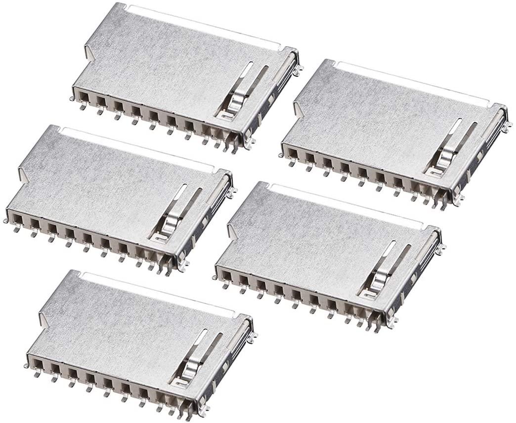 uxcell SD Memory Card Socket Short Body 11 Pin PCB Mount Connector 5pcs
