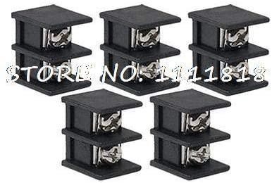 Davitu Terminals - 5 x 2P 9.5mm Pitch Screw Terminal Block Connector 300V 20A