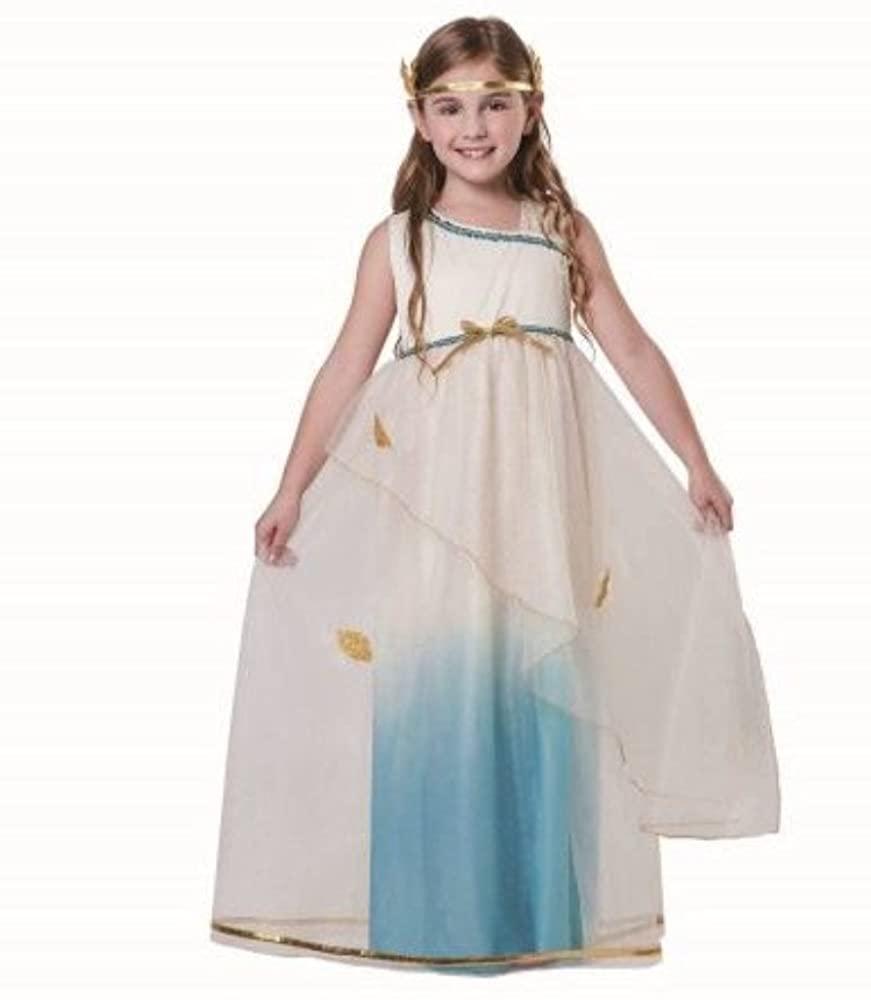 Greek Goddess Dress Up Costume-Size Small( 4-6)