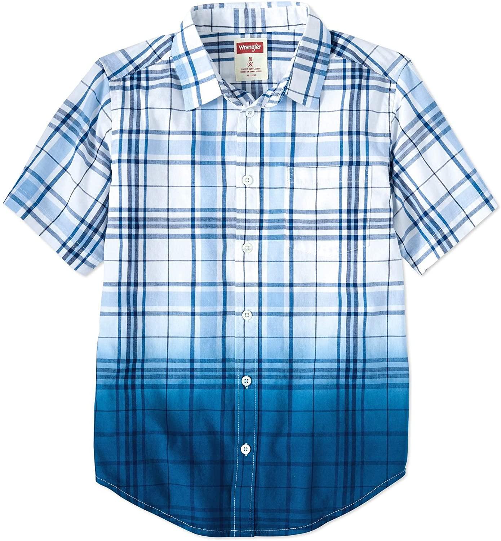 Wrangler Co. Boys' Short Sleeve Button up Top