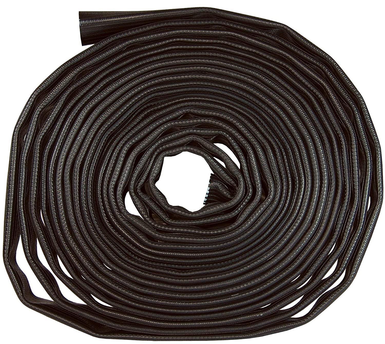 Dixon WDH10BK100UC Nitrile Black Wash Down Hose, Uncoupled, 200 psi, 100' Length, 1