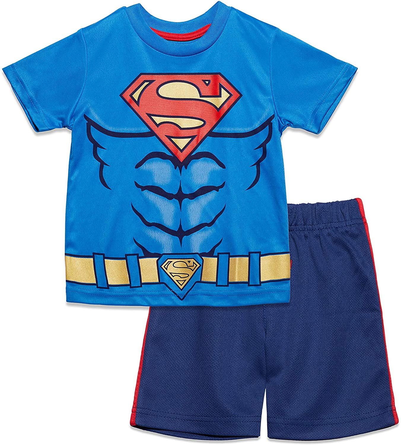 Warner Bros. Superman Toddler Athletic T-Shirt and Shorts Set 4T
