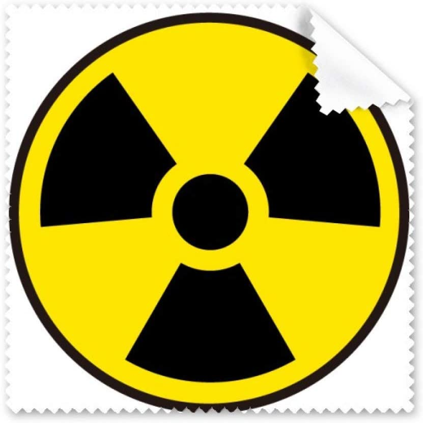 Yellow Danger Chemical Radiation Symbol Cleaning Cloth Phone Screen Glasses Cleaner 5pcs