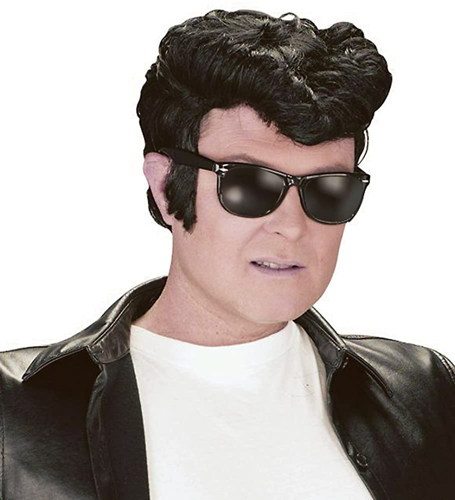 50s Black Mens Greaser Wig