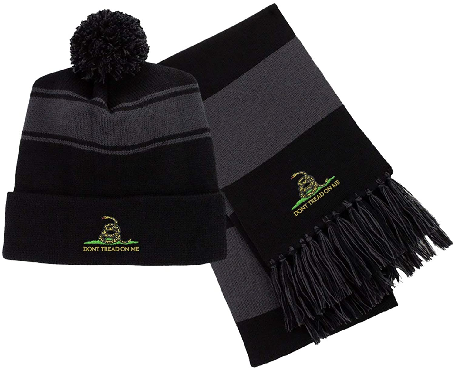 Don't Tread On Me (DTOM) Badge Embroidered Beanie/Scarf