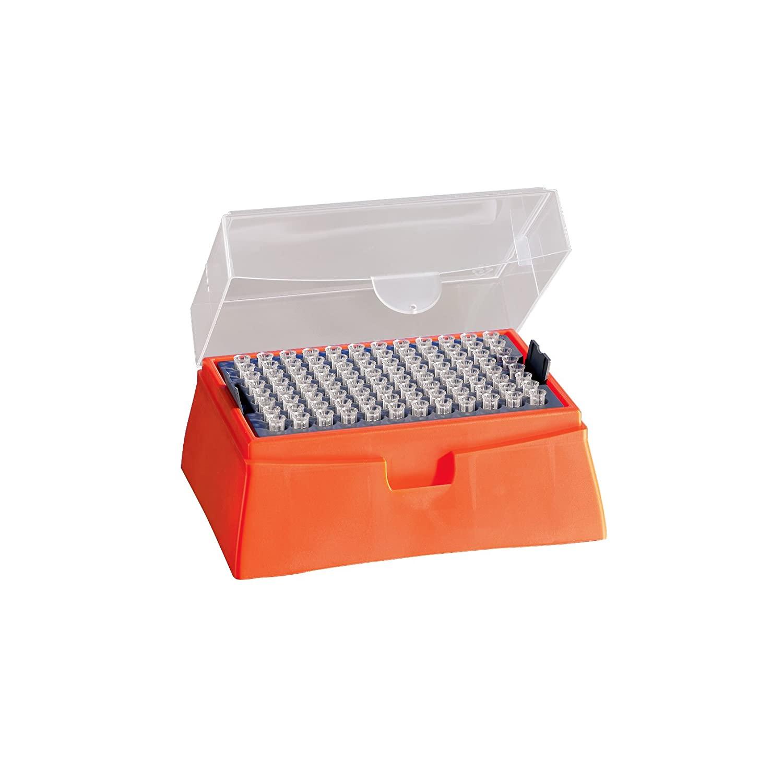 Corning DeckWorks Polypropylene Natural Nonsterile Low Binding Pipet Tips Hinged Racks, 0.1-10 µL Volume Range (Case of 3840)