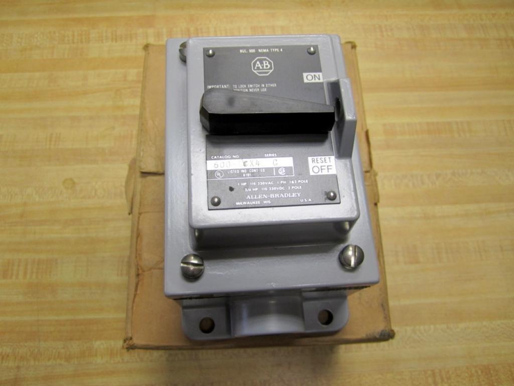 Allen Bradley 600-TCX4 Manual Starting Switch Toggle 600TCX4 Series C