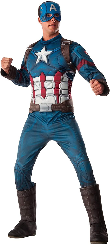 Rubies Mens Marvel Captain America: Civil War Deluxe Costume, Standard