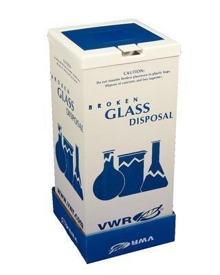 VWR 56617-804 Broken Glass Floor Disposal Carton, 25.4 cm Height, 20.3 cm Width, 20.3 cm Length (Pack of 6)