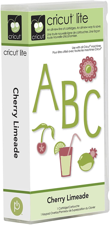 Cricut Lite 2000153 Cherry Limeade Cartridge & Keypad Overlay