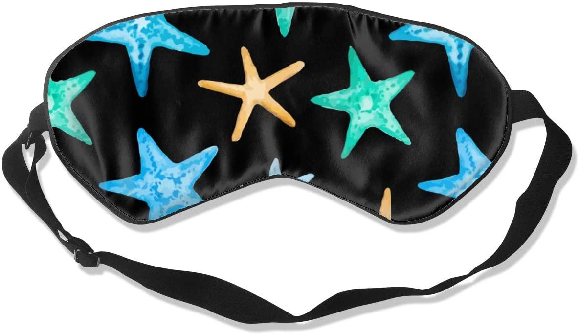 Starfish Eye Mask Sleeping Mask 100% Double-Sided Silk Eyeshade Eye Cover