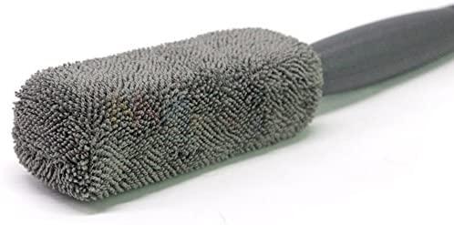 Wheel Brush Car Rim Wand Microfiber Cleaning Automotive Tire Metal Free Heavy Duty