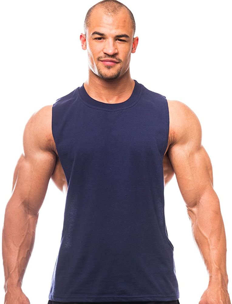 Muscle Cut Workout Crew Neck - Open Sides - Made in The USA