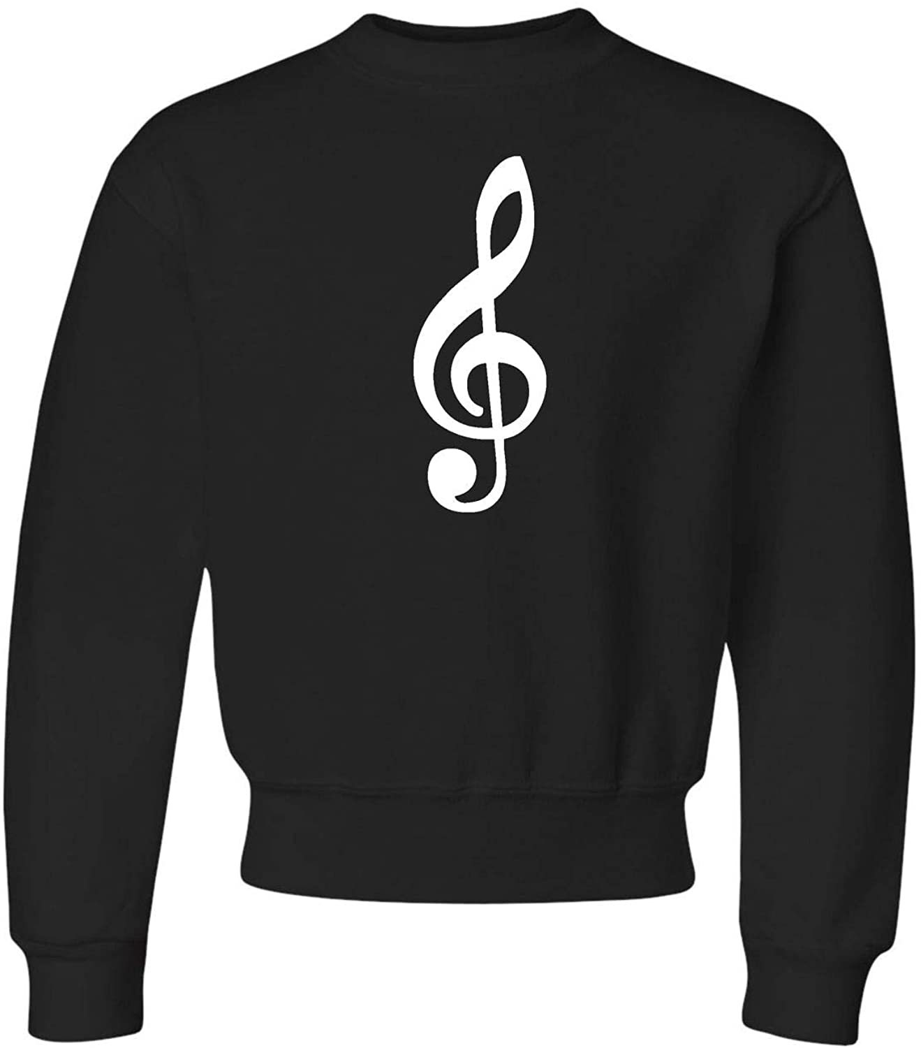 Go All Out Youth Giant Treble Clef Music Lovers Crewneck Sweatshirt