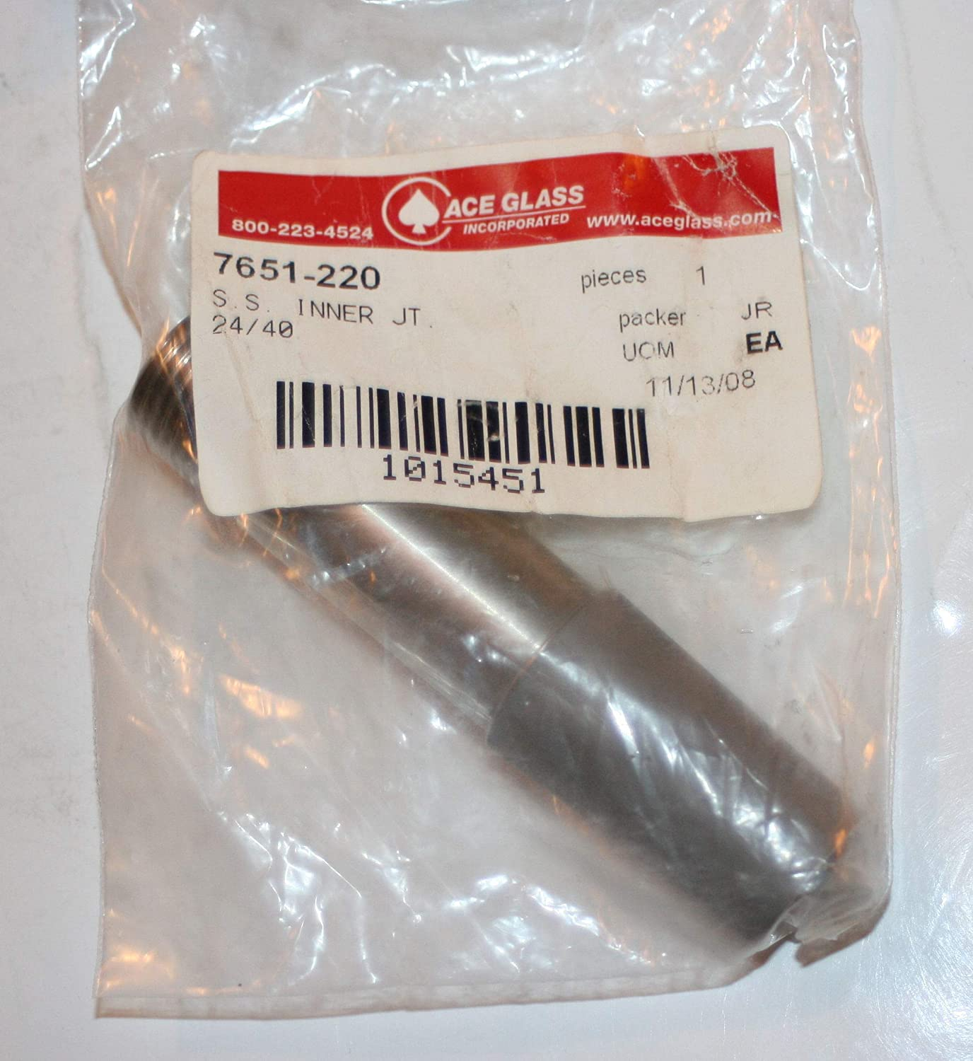 ACE Glass 7651-220 Stainless Steel Inner Joint, 1/2