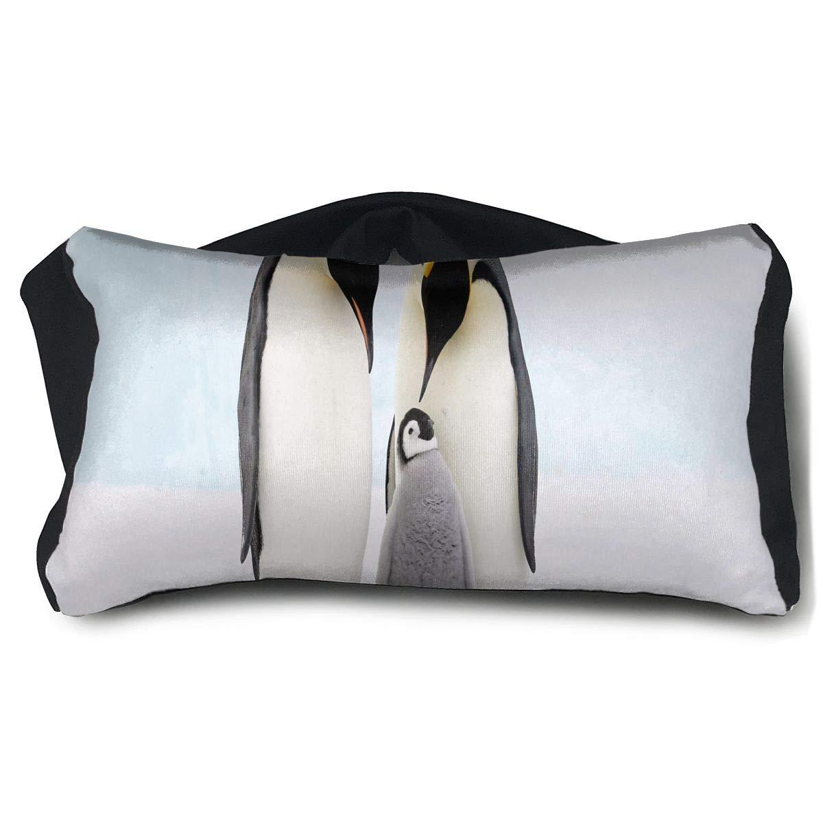 Eye Pillow Penguin Family Unique Womens Portable Blindfold Sleeping Eye Bag Bed
