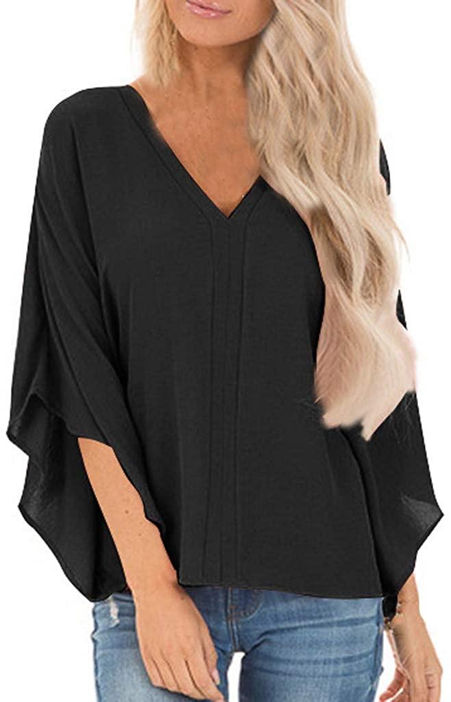 NRUTUP Women Top Sexy Solid Deep V-Neck Long Sleeve Undercoat T-Shirt Blouse Tops