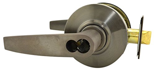 Schlage Commercial AL53JDJUP613 AL Series Grade 2 Cylindrical Lock, Entry Function Turn/Push Button Locking, Jupiter Lever Design, Oil Rubbed Bronze Finish