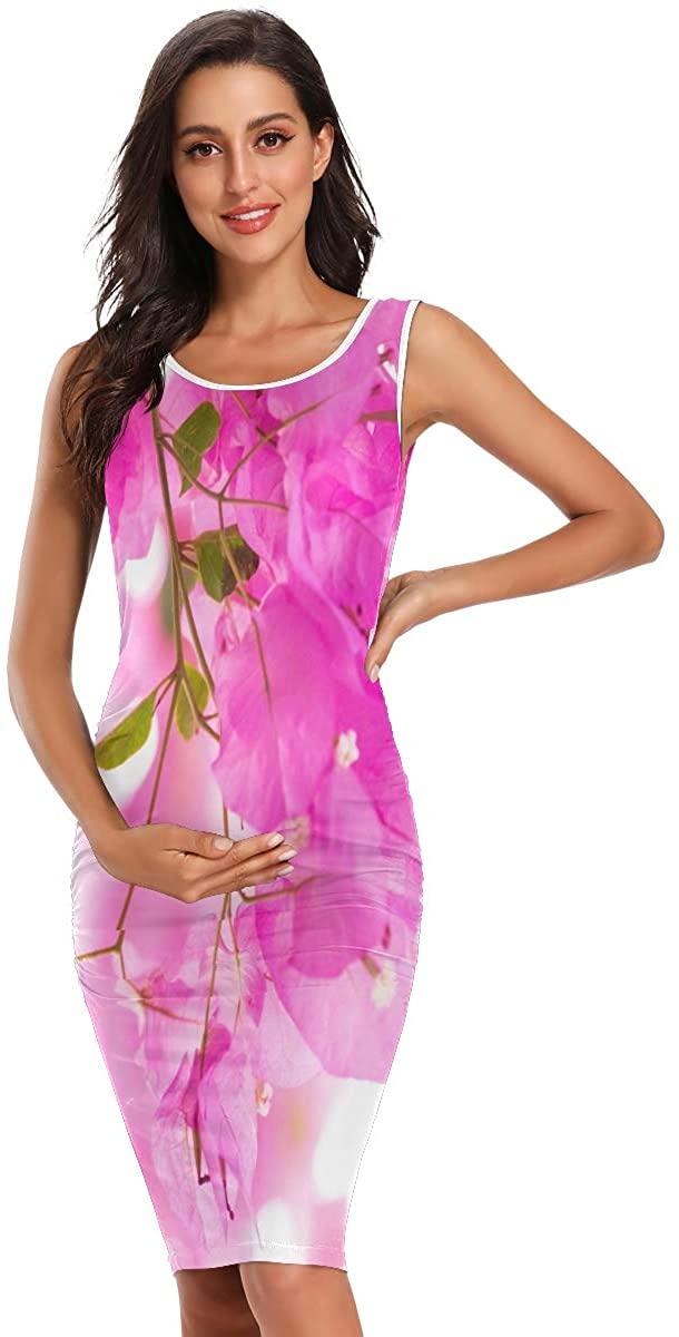 SHNUFHBD Plus Size Maternity Clothes,Maternity Short Sleeve Dress,Maternity Summer Dress