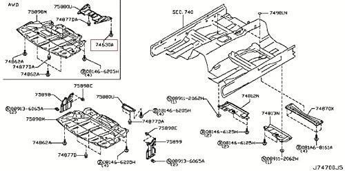 Infiniti Genuine Body(Front Roof & Floor) Floor Fitting Screw 01456-00691 QX70/FX QX50/EX Q60/G COUPE Q60/G CONVERTIB Q50 Q45 M45 M37/56 M35/45 M HYBR G35/37/25 SEDAN G35 FX45/35 30/I35