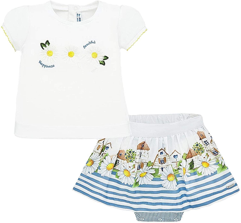 Mayoral - Skirt and Shirt Set for Baby-Girls - 1952, Indigo