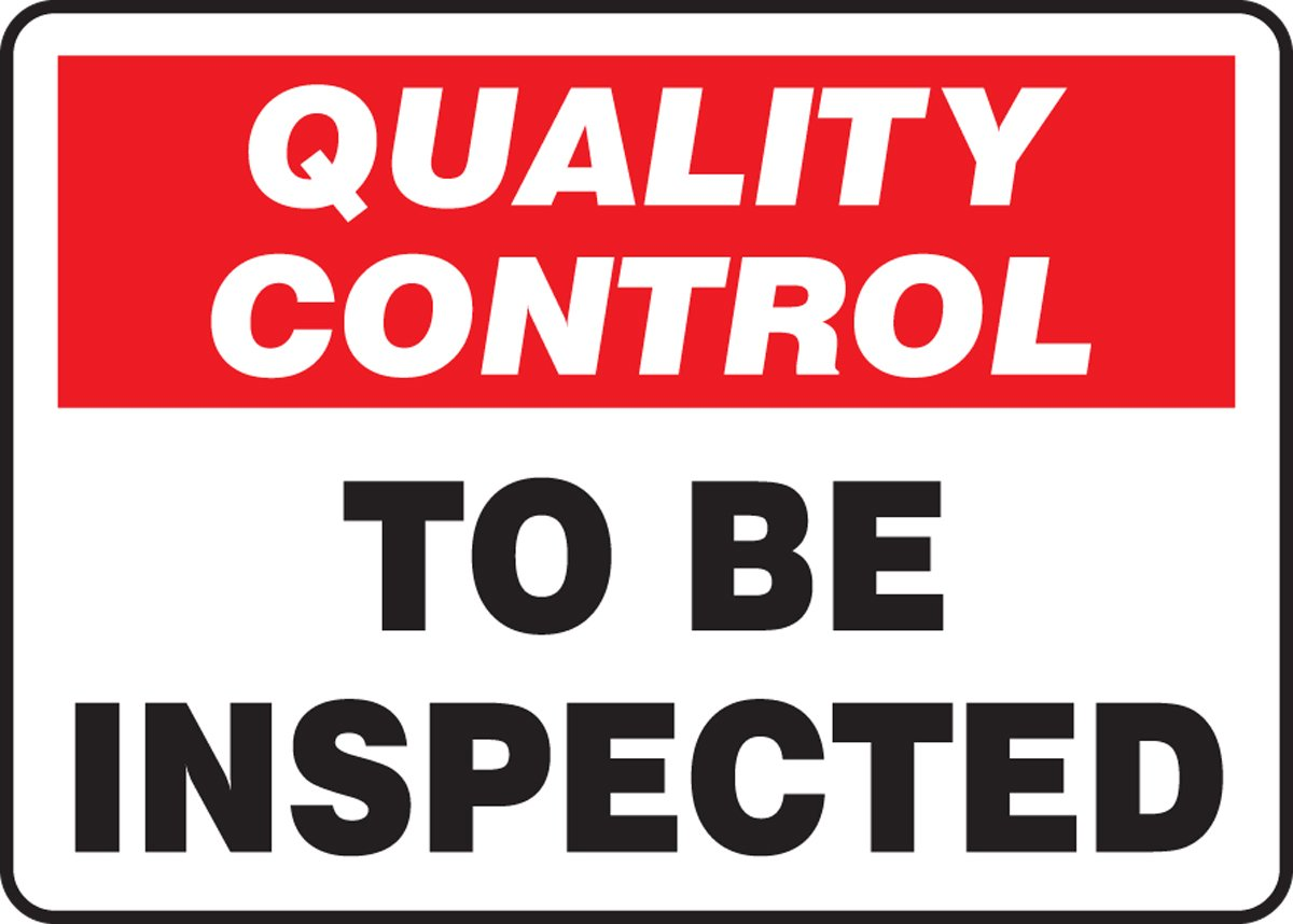 QUALITY CONTROL TO BE INSPECTED (2 Pack)