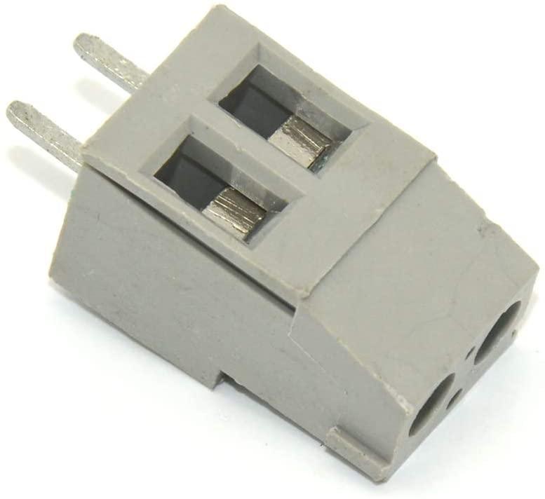 Davitu Terminals - 20pcs KF-129-2 Pin 5mm 300V 20A PCB Universal Screw Terminal Block Connector