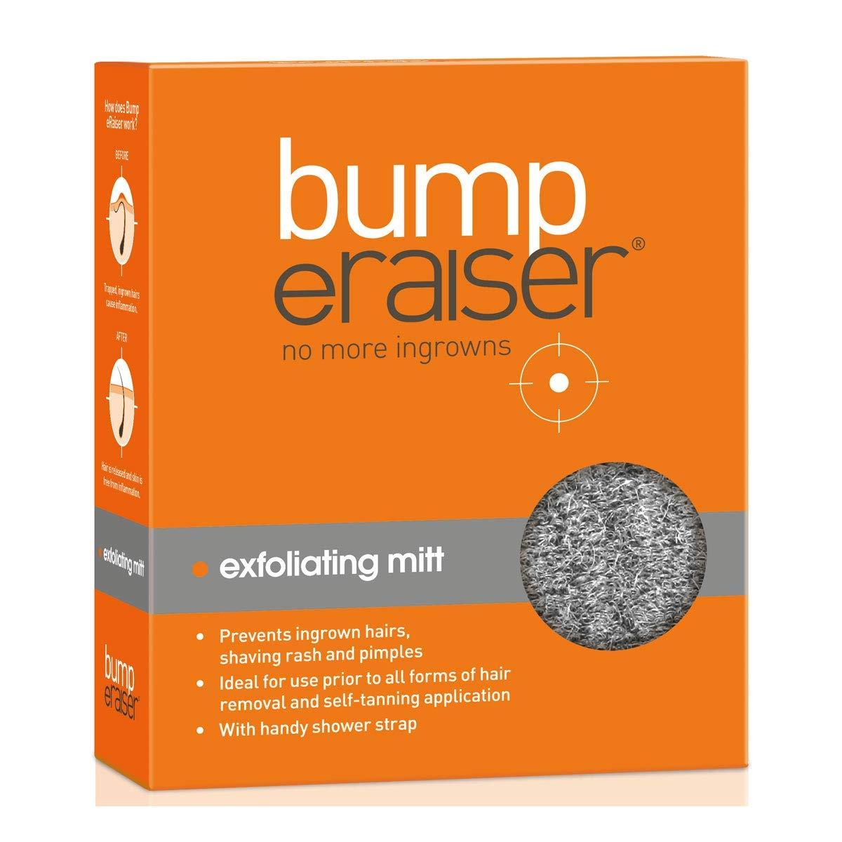 Bump eRaiser Exfoliating Shower Mitt for Ingrown Hair Treatment, Razor Bumps and Razor Burns