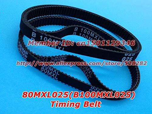 Fevas Rubber 80 MXL 025 or B100 MXL 025 Ttiming Belt Width 6.35mm Length 203.2mm for DIY Ultimaker Clone