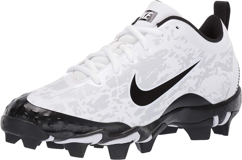 Nike Women's Hyperdiamond 2.5 Softball Cleats (8, White/Black)