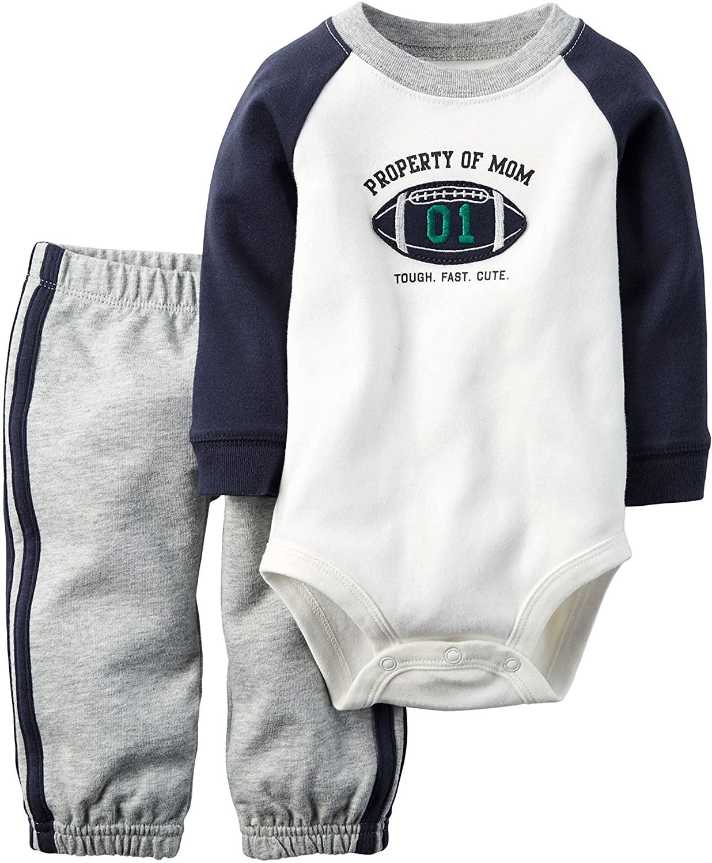 Carters Baby Boys 2-Piece L/S Bodysuit & Pant Set