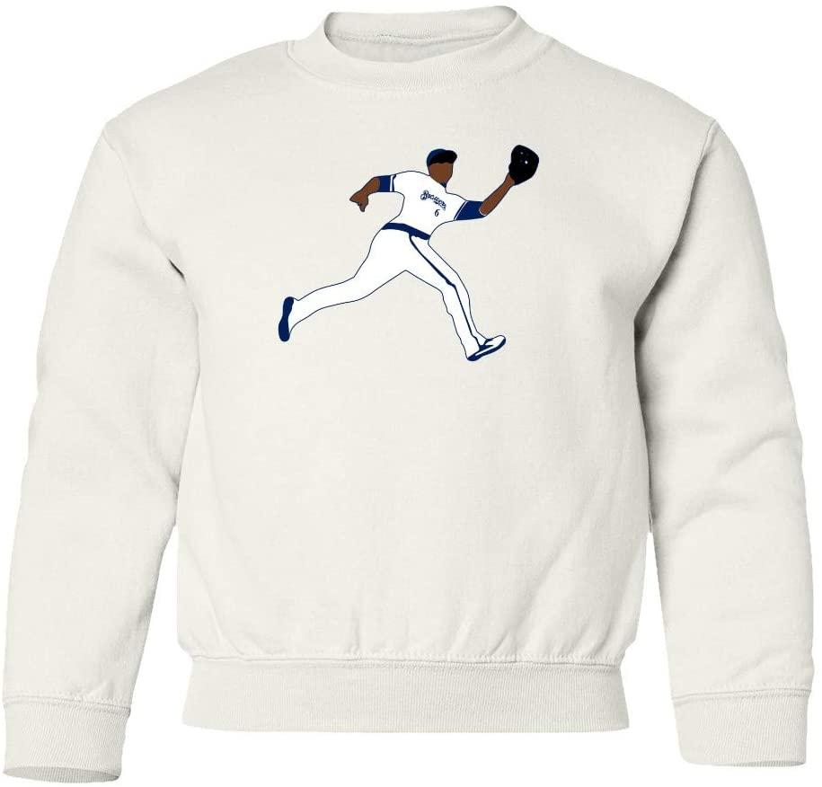 SMARTZONE Milwaukee Robbing Lorenzo Baseball Fans Home Run Unisex Youth Sweatshirt Crewneck Sweater (White, Youth Large)