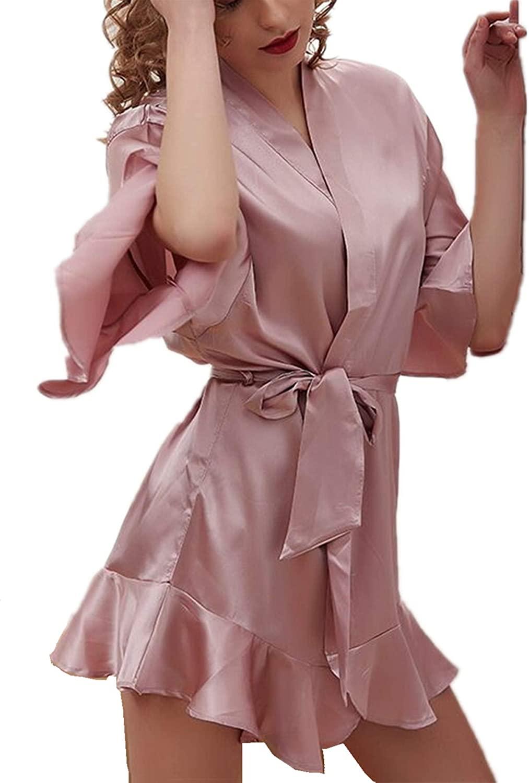 2020 Women Lingerie Nightwear Satin Sleepwear Mini Teddy Nightgown Lingerie Temptation Babydoll