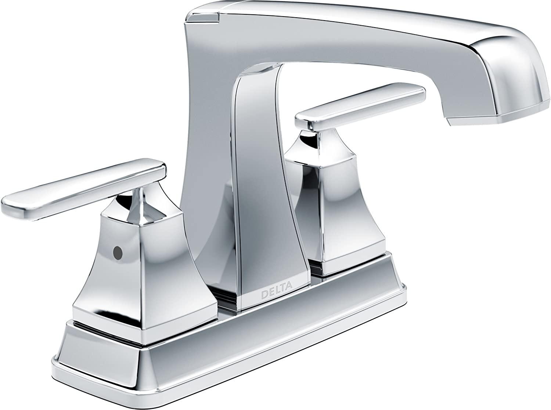 Delta Faucet Ashlyn Centerset Bathroom Faucet Chrome, Bathroom Sink Faucet, Diamond Seal Technology, Metal Drain Assembly, Chrome 2564-MPU-DST