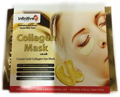 5 x Pack New Crystal White Powder Gel Collagen Eye Mask Masks Sheet Patch, Anti Ageing Aging, Remove Bags, Tired Eyes, Black Rims, Dark Circles & Puffiness, Skincare, Anti Wrinkle, Moisturising, Moisture, Hydrating, Uplifting, Whitening, Remove Blemishes & Blackheads Product. Firmer, Smoother, Tone, Regeneration Of Skin. Suitable For Home Use Hot or Cold.