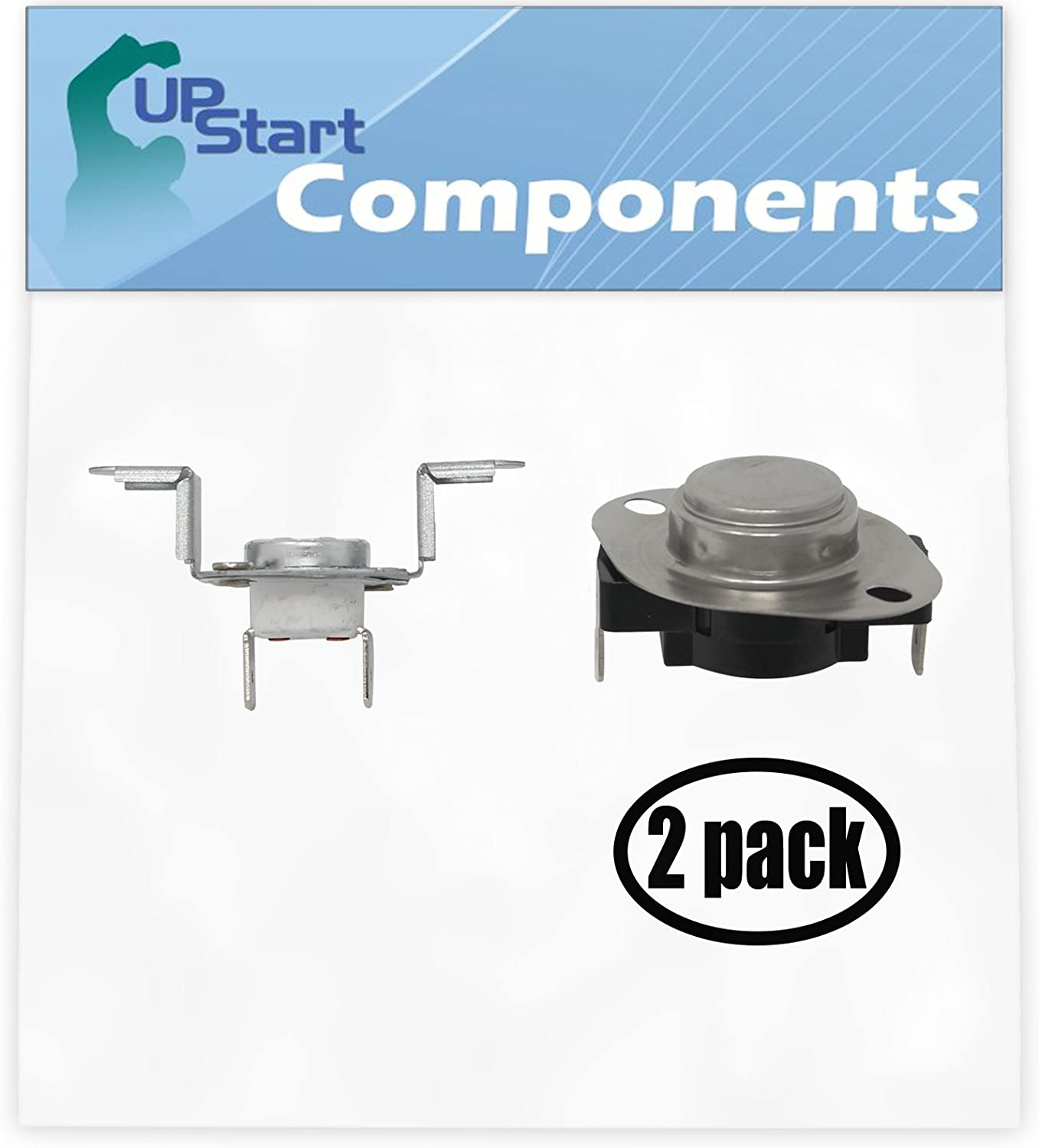2 Pack Replacement 279973 Thermostat and Thermal Cut-Off Kit for Whirlpool WED9750WW0 27