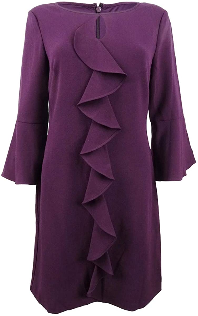 Jessica Howard Plus Size Bell Sleeve Ruffle Dress