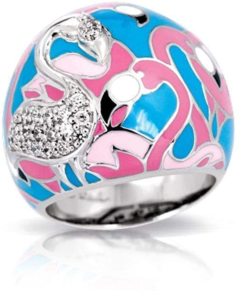 Belle Etoile Flamingo Ring Black & Multicolor