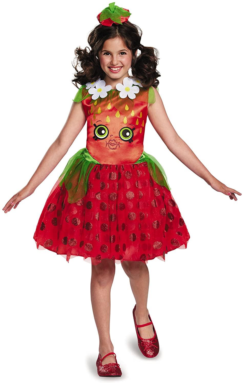 Shopkins Strawberry Classic Costume, One Color, Small/4-6