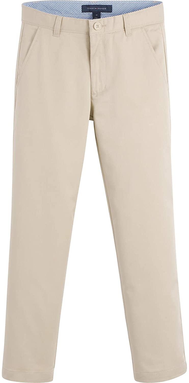 Tommy Hilfiger Flat Front Twill Blend Boys Dress Pants, Kids School Uniform Clothes