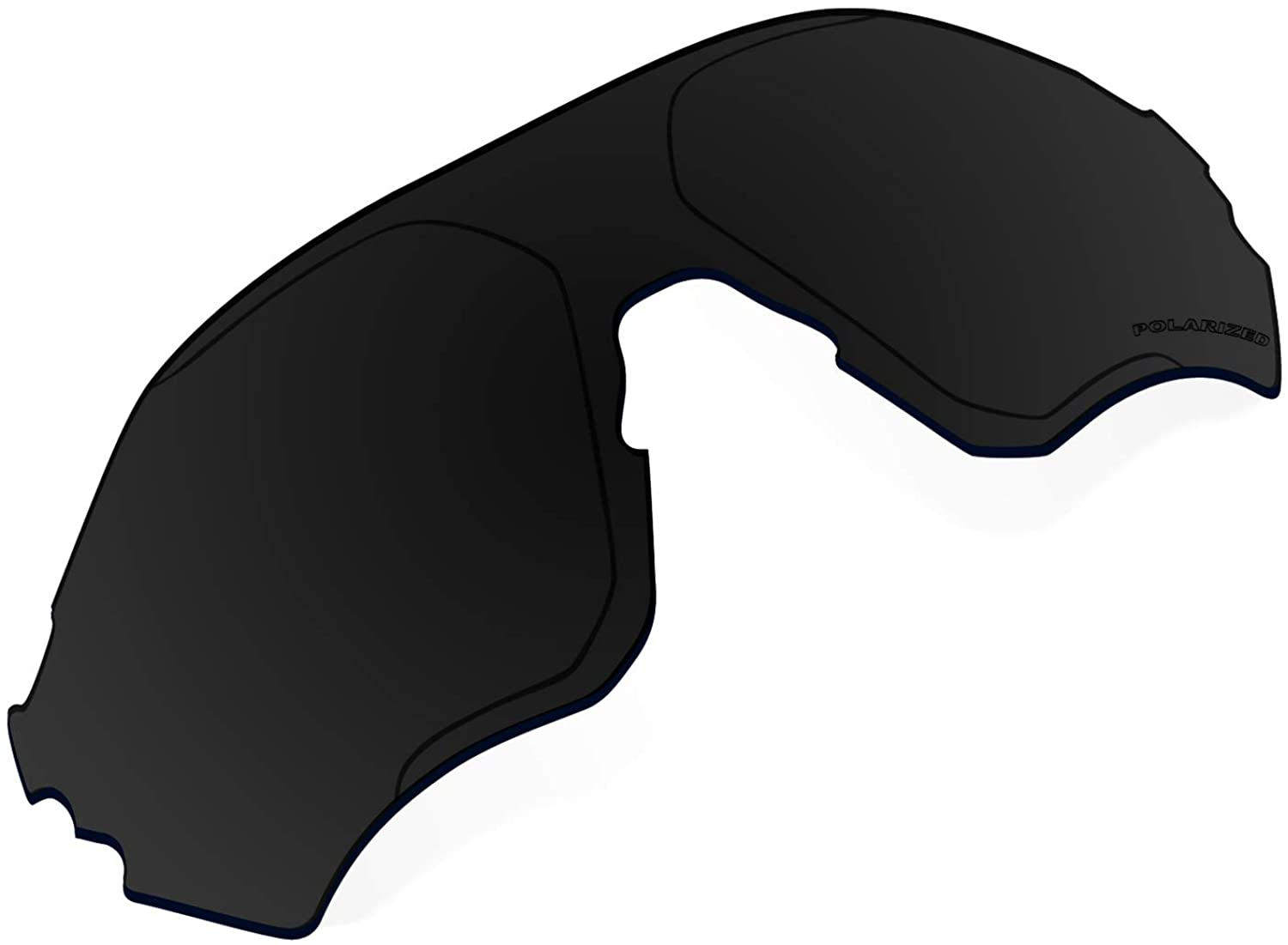 Polarized Replacement Lenses Compatible with Oakley EVZero Range Sunglass - Black