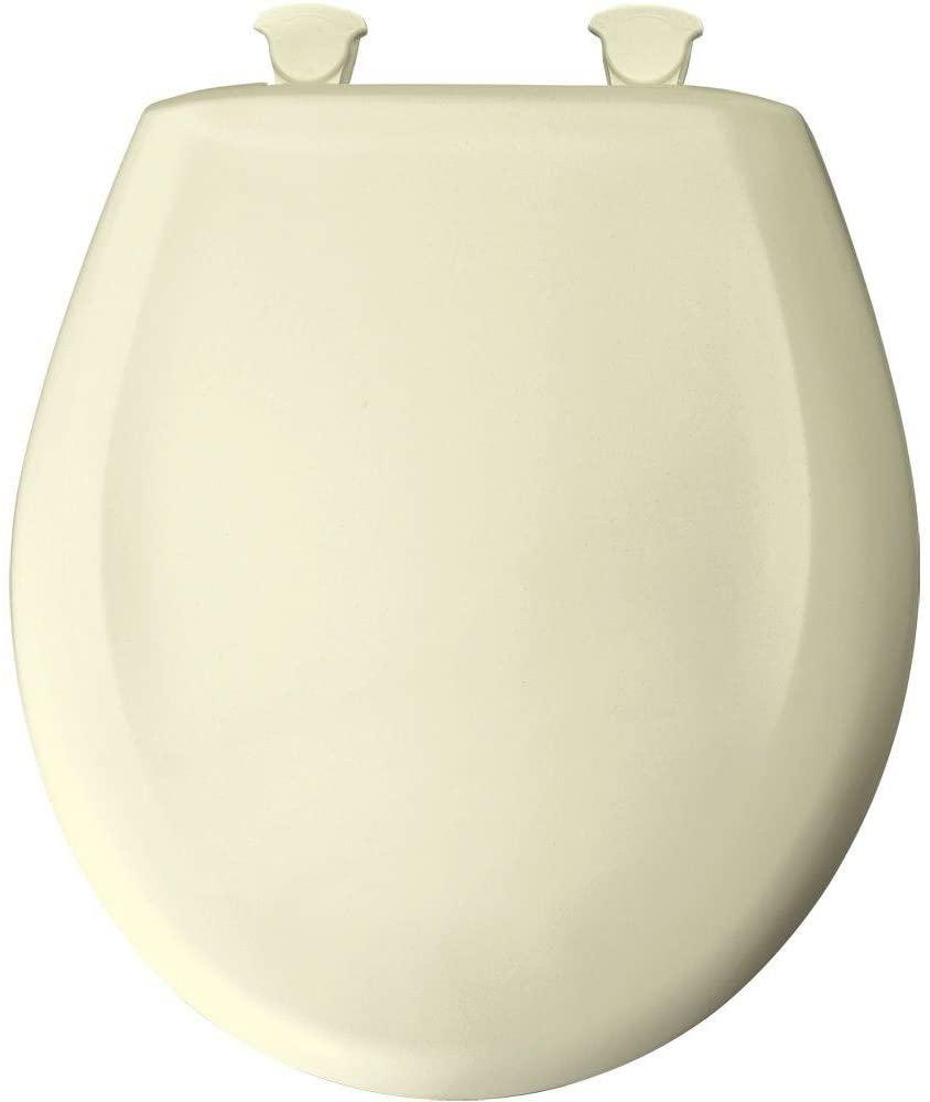 Bemis 200SLOWT 311 Lift-Off Plastic Round Slow-Close Toilet Seat, Blonde