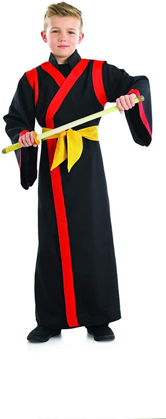 Childrens Samurai Boy Costume Boys Ninja Martial Arts Warrior Robe