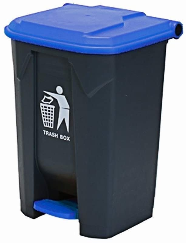 Garbage Trunk Commercial Large Trash Can Trash Hotel Terrace Can Type Pedal Thicken Trash Can with Lid Kitchen Trash Can (Color: C)