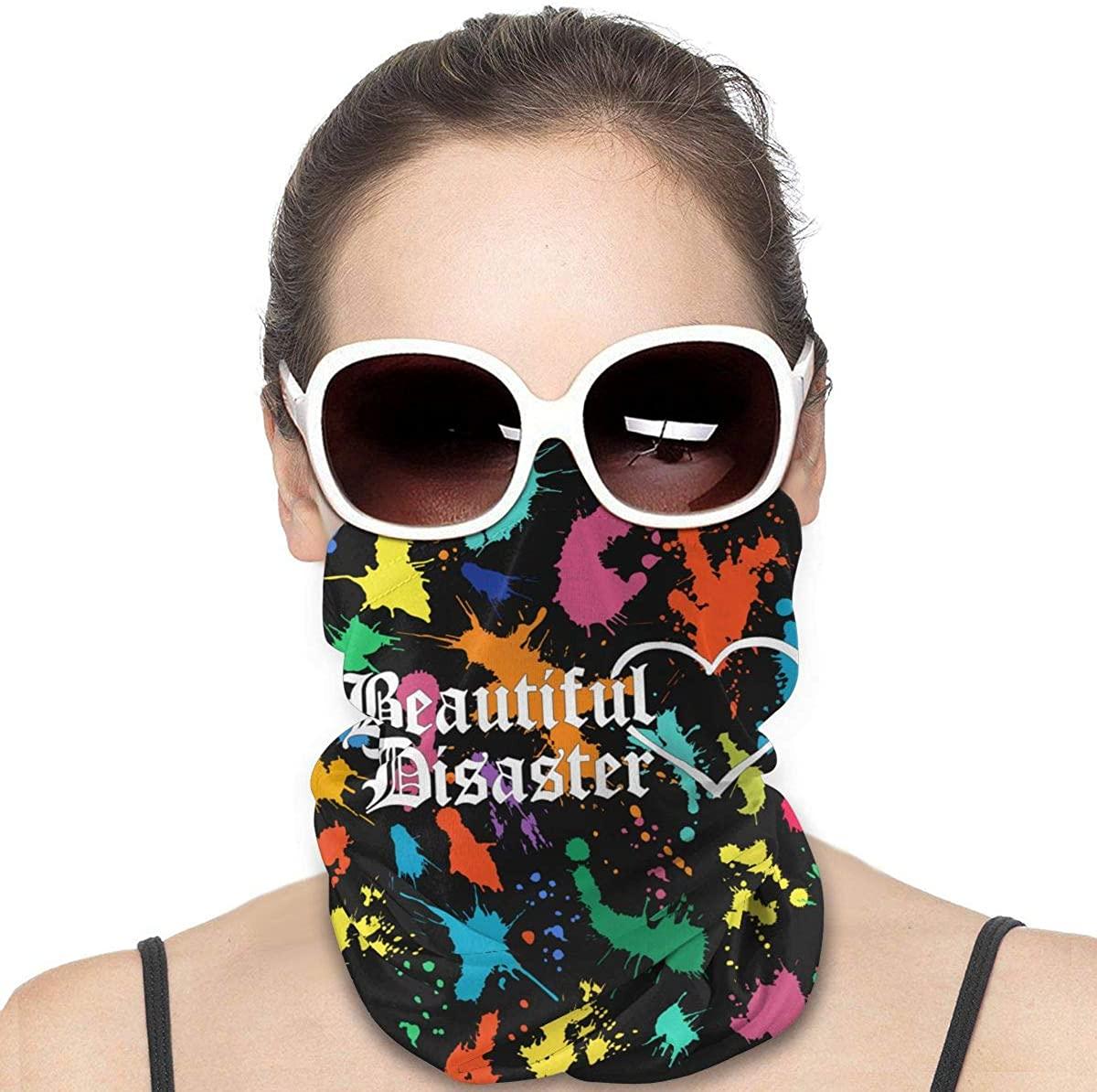 Beautiful Disaster Headwear, Bandana, Neck Gaiter Head Wrap Headband Balaclava Magic Scarf