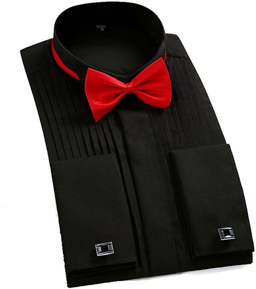 GEORGE BRIDE Mens Luxury Long Sleeve Casual Slim Fit Stylish Dress Shirts