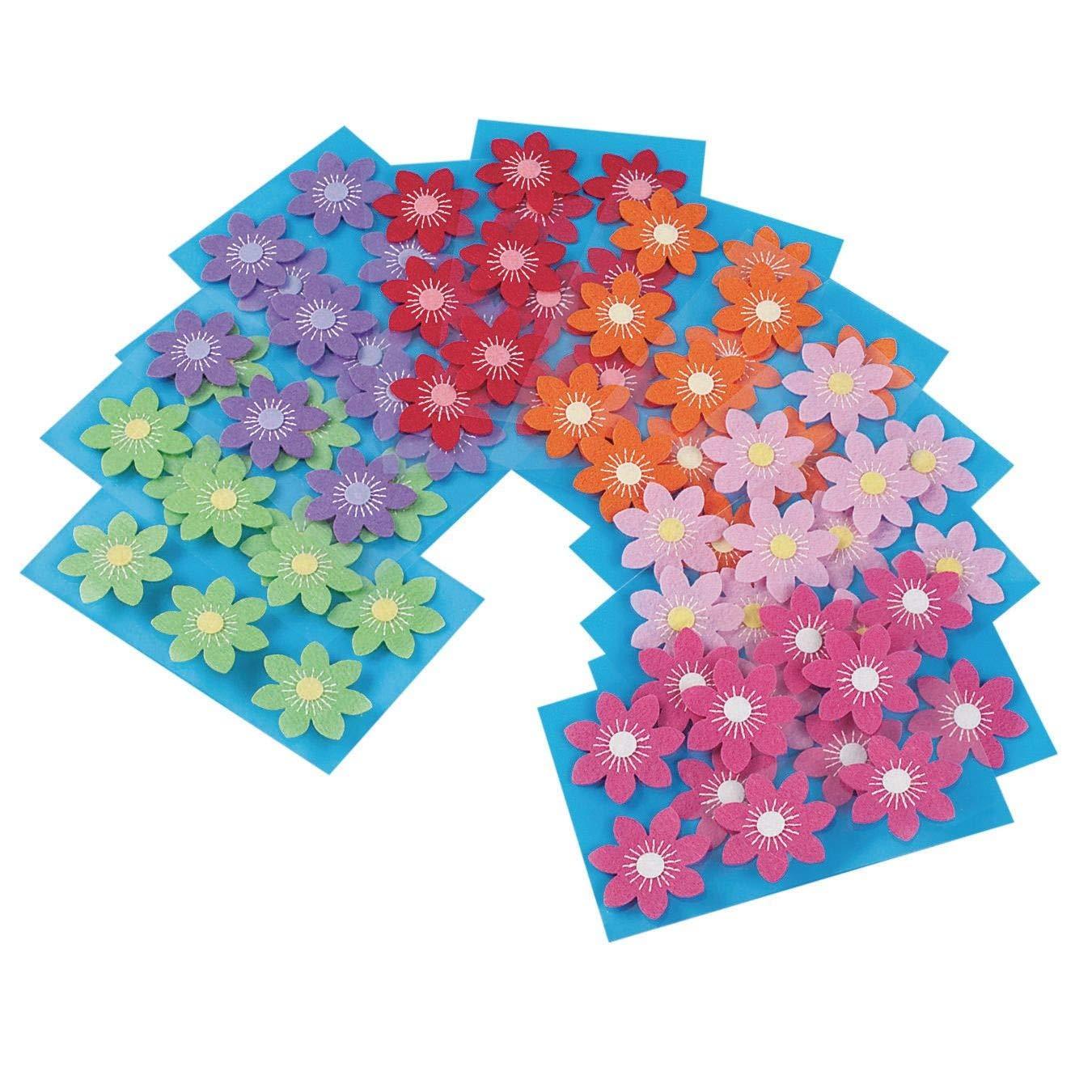 Felt Flower Stickers (Pack of 72)